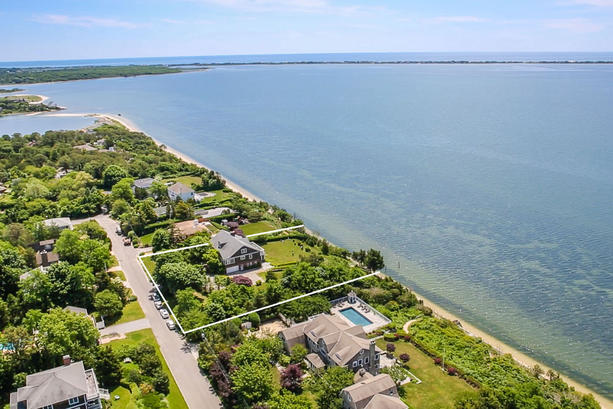 Single Family Home for Sale at One-Acre Bay Front With Ocean Views 30 Ocean View Drive, Southampton, New York