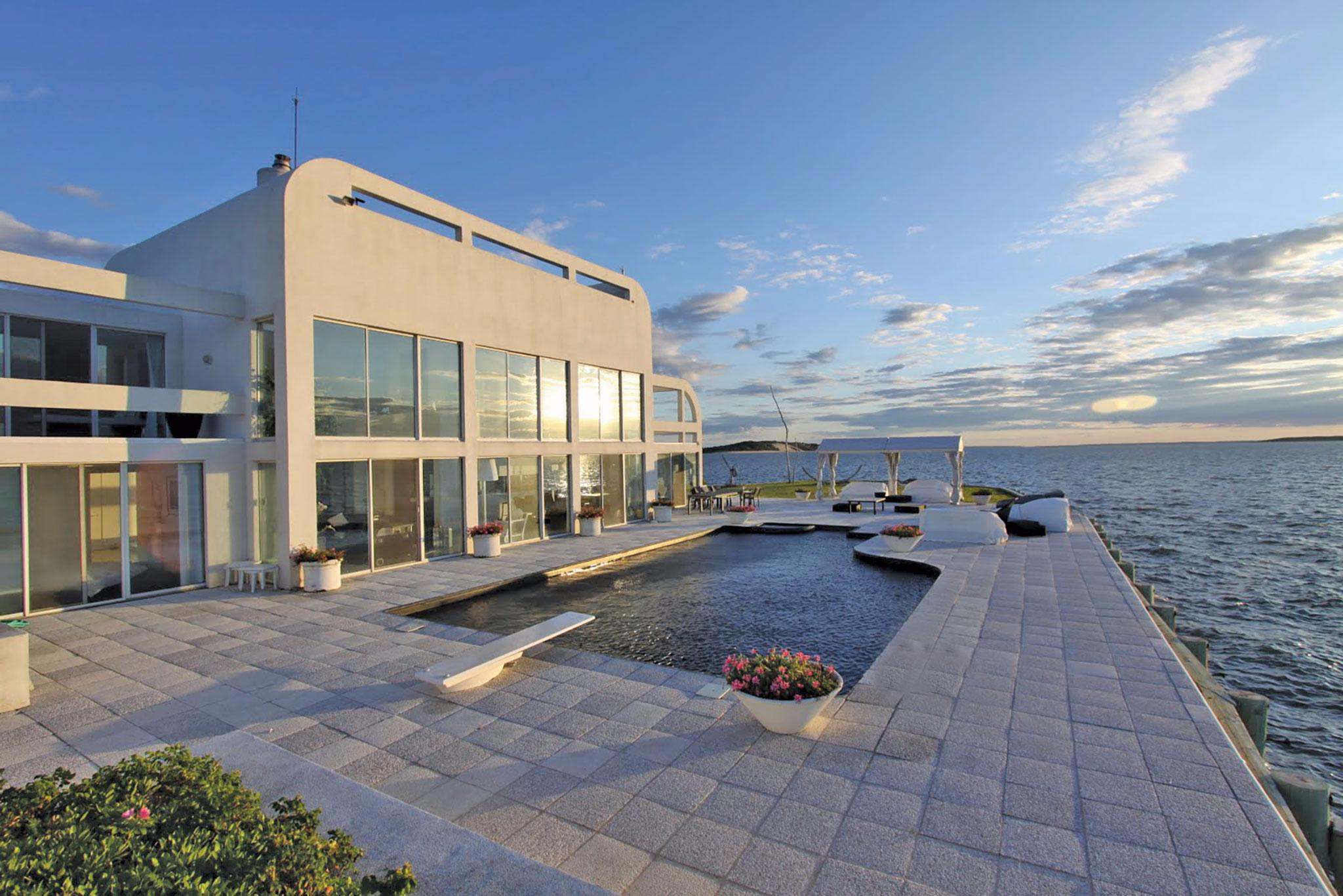 Single Family Home for Rent at Stunning Waterfront Contemporary Southampton, New York